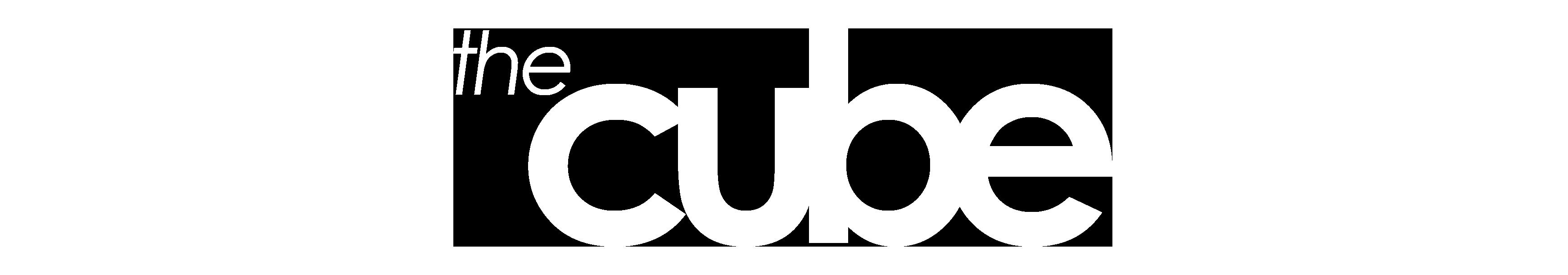 The Cube Logo White